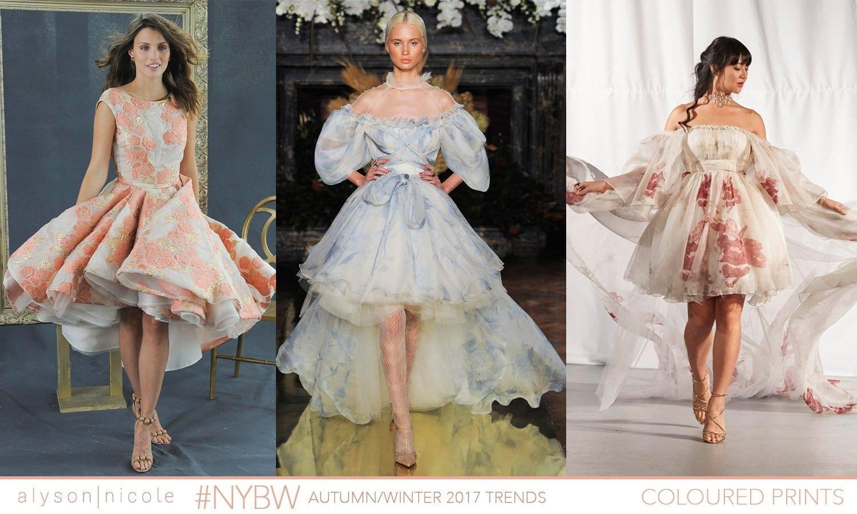 new york bridal week- COLOURED PRINTS